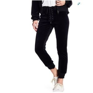 PAM AND GELA Lace Up Cropped Sweatpants